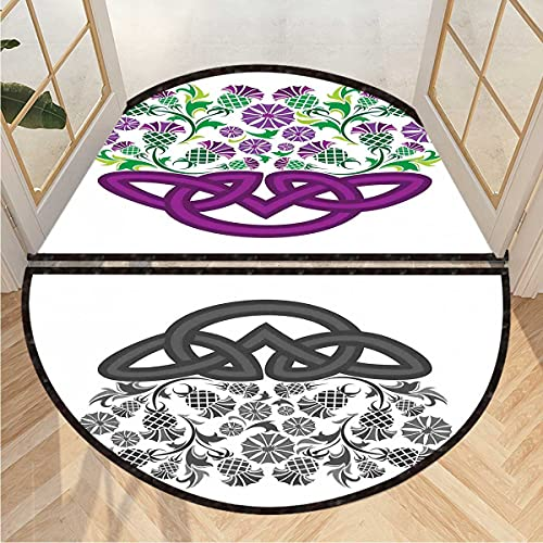Home Office Floor Mat Celtic Knot Basket Form Super Absorbent Doormat Magic Step Door Mat Microfibre Washable Outdoor Indoor 2 Pcs W23.6 x H15.8