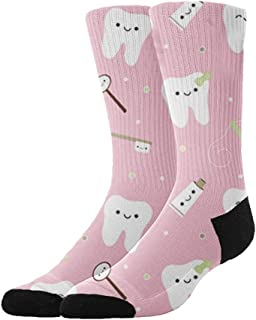 Athletic Hiking Socks Cushioned Crew Socks Non Slide Compression Sock for Home