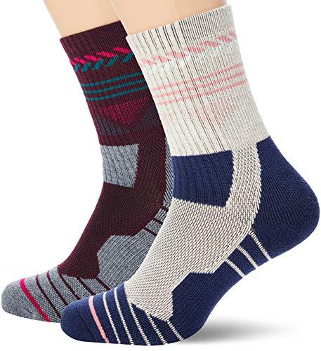 Urban Classics Unisex Hiking Performance 2-Pack Socken, Blue/Grey, 39-42