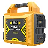 Portable Power Station 300W , LIPOWER 296Wh/80000mAh Solar Power Generator, with 300W/110V Pure Sine Wave AC Outlet, PD 45W Output, USB QC3.0, LED Light, for Outdoor Camping CPAP Backup Battery Supply