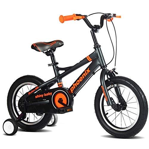 Axdwfd Kids Bike Kids Bike Met Trainingswielen 12/14/16inch Verstelbare Kinderfietsen, voor 2-8 Jaar Oude Jongens & Meisjes Coaster Brake Kinderen Fietsen, Zwart, Wit