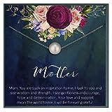 Regalo de la gracia de la perla para mamá regalos para mamá regalo para mamá collar idea del día de la madre joyería regalo de la mamá día de la madre