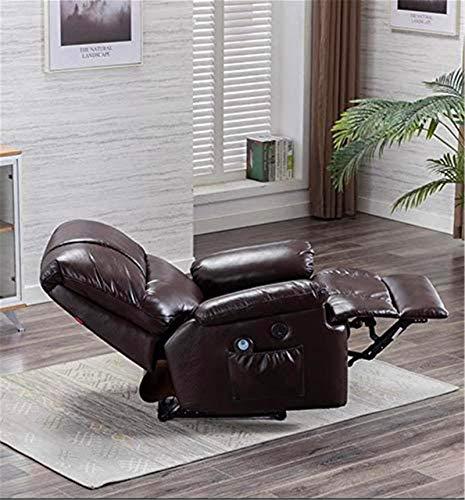 CLOTHES 3D Massagesessel, Elektrisch First-Class-Kapsel Sofa Multifunktions-Ledermassagestuhl für Hause und Büro (Color : Brown)