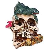 DOITOOL - Adorno de escritorio de Halloween Resina de terrario Decoración de lagarto
