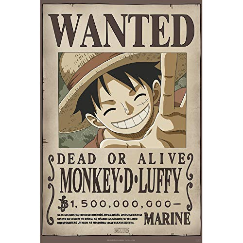 ABYstyle - One Piece - Poster - Wanted Luffy New 2 (91,5 x 61 cm)