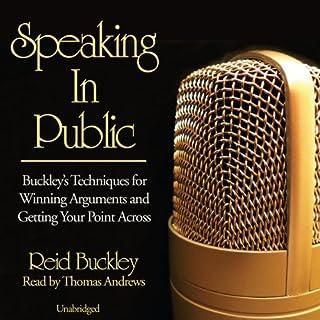 Speaking in Public audiobook cover art