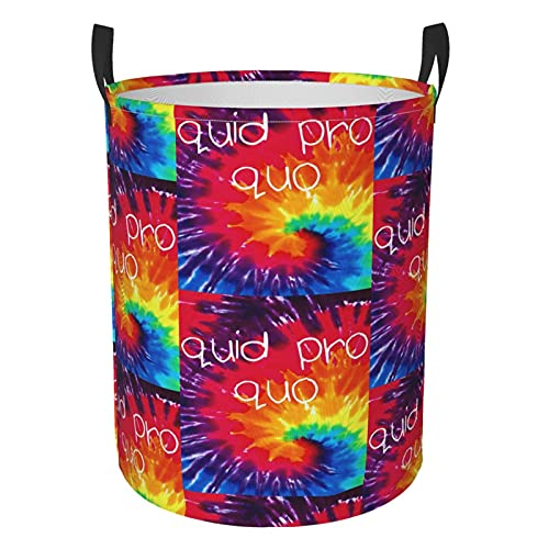 Quid Pro Quo Fun Laundry Hamper Collapsible Large Clothes Basket With Easy Carry Extended Handles For Clothes Toys Small