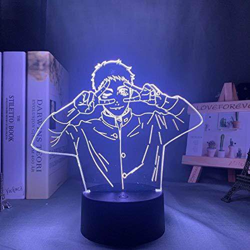 Lámpara de mesa con diseño de anime animado 3D de ilusión LED, lámpara de mesa, lámpara de ambiente, utilizada para la decoración de la habitación, regalo para niños, 7 colores sin mando a distancia