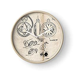 Fsgawards Alchemist Anime Manga Fullmetal Edward Elric Automail Wall Clock Excellent Accurate Sweep Movement Glass Cover, Decorative for Kitchen, Living Room, Bathroom, Bedroom, Office