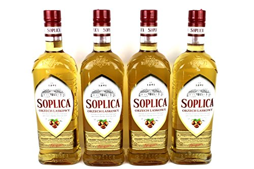 Soplica Haselnuss Orzech Laskowy Likör aus Polen, 30%(4x0,5 L)
