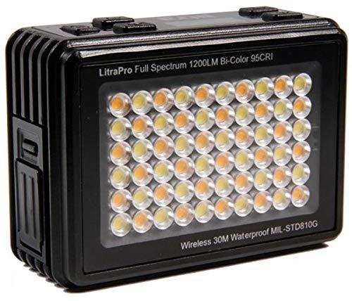 litra litr Apro lámpara LED de Mini con 1200lúmenes luz Potencia, Ajustable Temperatura de Color y CRI 95