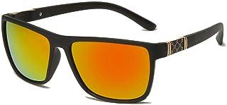 X&L - Gafas de Sol polarizadas Hombres Que conducen Visera para Hombres Gafas de Sol TR90 Hombres piernas de Fibra de Carbono UV400-Negro Rojo