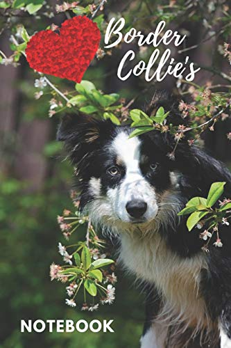 Border Collie Notebook: cute border collie diary, notepad for kids and dog lovers (blank lined notebook) journal book for journaling / best for ... gift for girls / border collie journal