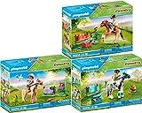 Country Playmobil 70514 70515 70516 - Juego de pony coleccionable (3 unidades, Islander, Lewitzer y Connemara)