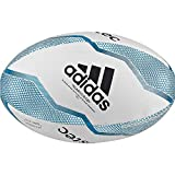adidas R C R Ball Ballons de Rugby Men's, White/Black/Shock Cyan/Legend Ink, 3
