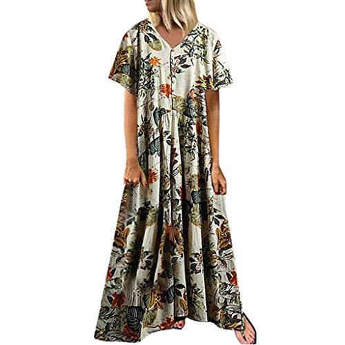 Vestidos Mujer 2019 Verano Vestidos Playa Mujer Vestidos Casuales Vestido Verano Vestido Casual Vestido Bohemio con Cuello en v