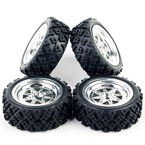 Conveniente neumático de coche Rc, PP0106 PP0487 + 1:10 modelo de coche Neumáticos piezas de caucho y la llanta de la rueda con 12 mm Hex encajan HSP HPI RC Rally Racing Off Road accesorios del coch