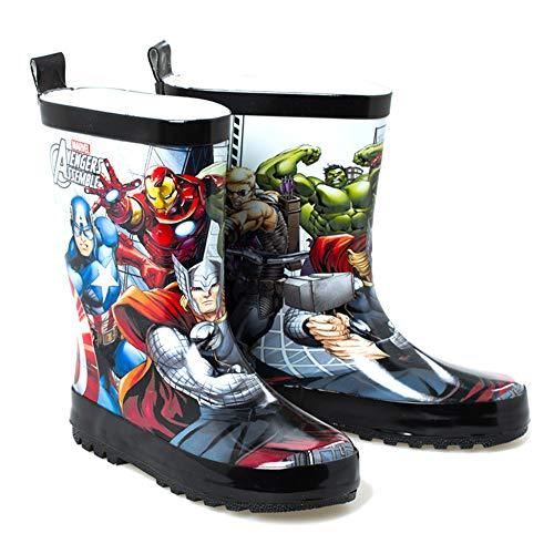 SPKIDS Kids Toddler Boys Girls Avengers Iron Man rain Boots for Little Kids(4 M US Big Kid,Avengers)