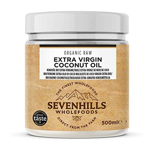 Sevenhills Wholefoods Aceite De Coco Virgen Extra Orgánico, Crudo, Prensado En Frío,...
