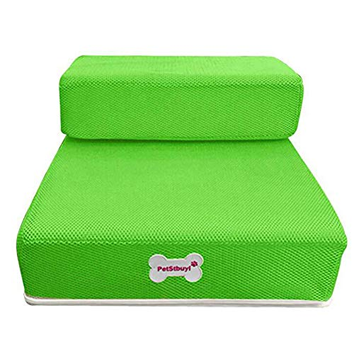 Alician Pet Dog Pieghevole Lavabile, Staccabile Doppio Strato Letto Scala Divano Rampa Cuscino Forniture per la Casa, Rete verde., Small folding length 35 width 30 height 20