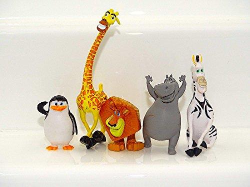 Figuras decorativas para tartas de juguete de Madagascar para fiesta de Alex Marty Melman Gloria