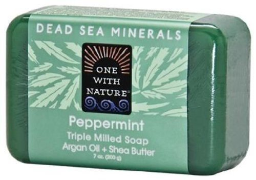 Almond Bar Soap, Hemp, 7 Oz by One with Nature (Pack of 3)