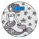 Digitale Präzisionswaage für das Körpergewicht Runde Meerjungfrau Ultra dünne ausgeglichenes...