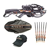 Ravin Crossbows R26 400 FPS Predator Hunter's Crossbow Bundle (Dusk Grey) with Soft Case, 6 Carbon Arrows and HME Broadheads