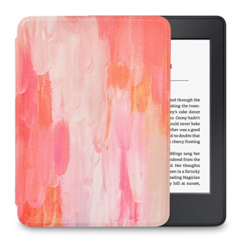 LuvCase Case for Kindle Paperwhite, Premium PU Leather Cover with Auto Wake Sleep Fits All Paperwhite Generations Prior to 2018 (Will NOT fit All-New Paperwhite 10th Generation), Mist 13