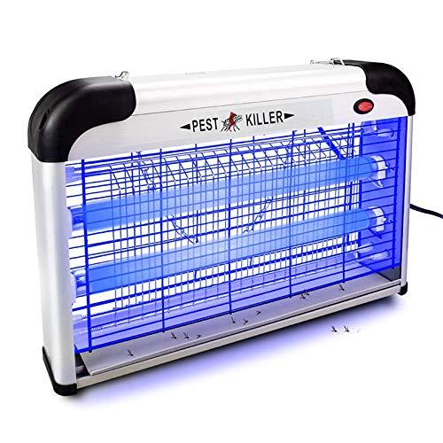 NA Vliegenlamp, elektrisch, 20 W, LED, UV, insectenvernietiger 360 graden, vangt muggen 40-60 m2, geen lawaai, beschikbaar voor zwangere vrouwen en kinderen