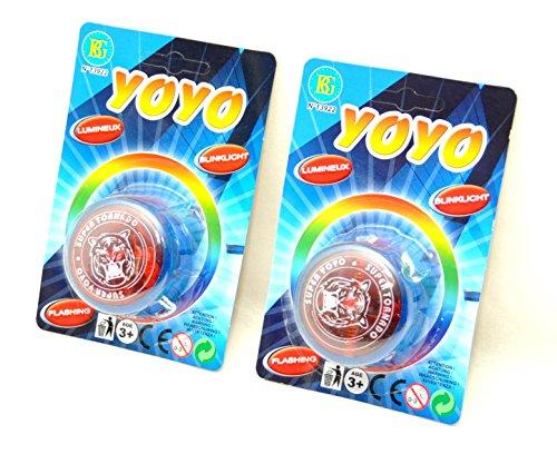 2 Stück Yo Yo mit Licht-Effekt by schenkfix
