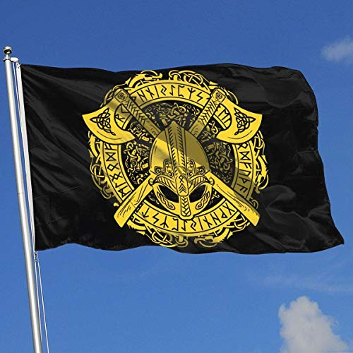 dfjdfjdjf Flagge/Fahne Viking Warrior 3x5 Foot Flags Outdoor Flags 100% Single-Layer Translucent Polyester 3x5 Ft