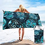 Microfibre towel lightweight travel beach towel | Extra large quick drying camping towel...