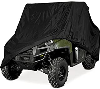 KAWASAKI YAMAHA ATV RANCHER HONDA POLARIS SUZUKI FOURTRAX FOREMAN PREMIUM PRODUCTS SUPER HEAVY DUTY 600 DENIER MARINE GRADE WATERPROOF ATV COVER FITS UP TO 100 L ATV COVERS 4-WHEELER 4X4