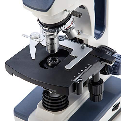 SWIFT Optical SW350B Lab Binokular Mikroskop 40X-2000X Vergrößerung, Siedentopf, Researcher Mirkroskop für Forschungszwecke WF10X und 25X Okular, mechanischer Objekttisch, Abbe-Kondensator
