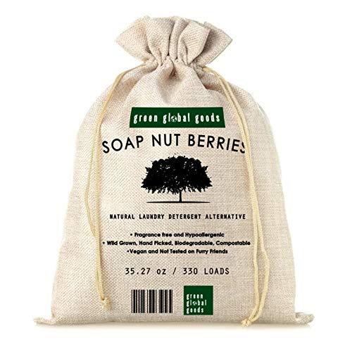 Organic Soap Nut Berries- Nature's Alternative Laundry Detergent 2.2lbs of De-seeded Wash berries, No Added Fragrances, Kind to Earth and Her Babies. Try SoapNuts and Help Save the Planet One Load at a Time - Environmental, Hypoallergenic, Sustainable, Unscented