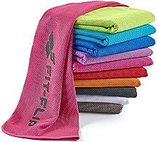 Fit-Flip Toalla de enfriamiento 100x30cm, Toalla de Deporte refrescante, Toalla fría, Airflip Cooling Towel, Toalla de Microfibra – Color: Rosa, tamaño: 100x30cm