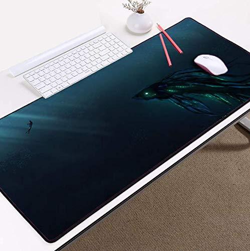 Verlengen De Muis Pad Waterdicht Niet-slip Grote Pc Computer Laptop Toetsenbord Tafelmat Alien Game Mousemat 400 * 900 * 3 Mm