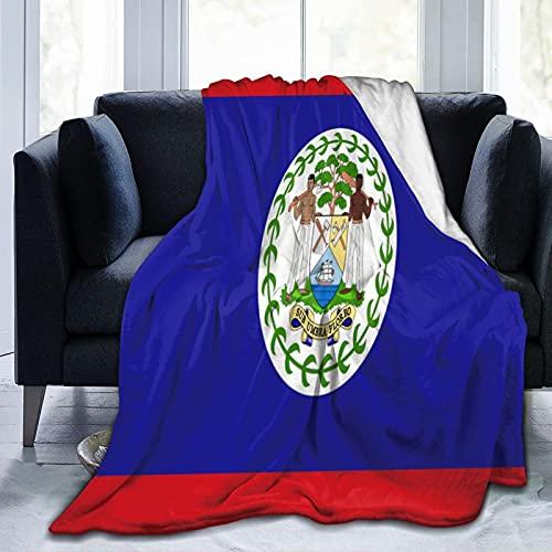 Flanelldecke Flagge von Belize, flauschig, bequem, warm, leicht, weich, Überwurf für Sofa, Couch, Schlafzimmer