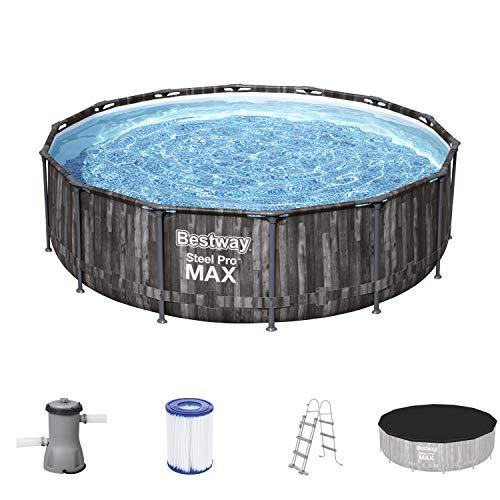 Bestway Steel Pro Max 35,5 x 42 cm, 4,27 m x 1,07 m, Pool Set, mehrfarbig