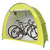 EEUK Carpa de Cobertizo para Bicicletas, Carpas multifuncionales para Bicicletas para Exteriores Diseño de Ventana, Portátil, Plegable, Que Ahorra Espacio(Color:Amarillo)