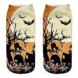 YWLINK Calcetines Halloween Calcetines Cortos Mujer 3D ImpresióN Calcetines Tobilleros para Mujer Y Hombre Unisex Suave Calcetines De AlgodóN Antideslizantes Respirable Calcetines (H1, M)