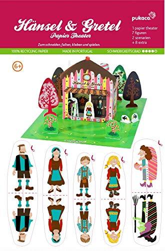 Forum Traiani Bastelvorlage Hänsel und Gretel - Papiertheater Pukcaka DIY Bastelbögen Papier-Karton für Kindergeburtstag als Geschenkidee, Bastelidee  Papiermodelle für Jungs und Mädchen
