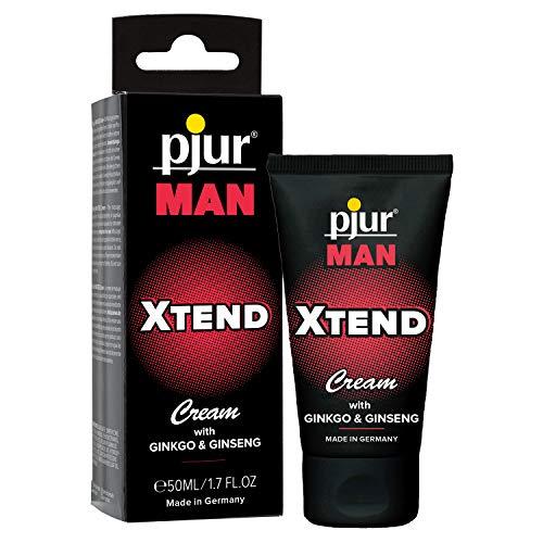 pjur MAN XTEND Cream - Crema de erección para hombres que desean más - con extracto de ginkgo y gingseng para prolongar el placer (50ml)