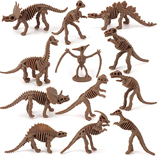 Product Image of the Dinosaur Skeleton Fossils Assorted Bones 12 PCS Figures Toys for Kid