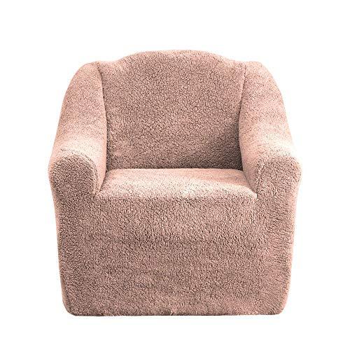 Mixibaby Sofabezug Sofahusse Sesselbezug Sitzbezug Sesselüberwurf Husse 1er Sofa Wellsoft, Farbe:Altrosa