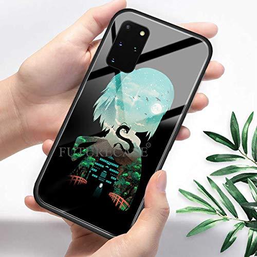 FUTURECASE Anime Spirited Away Sen - Carcasa de cristal templado para Samsung Galaxy Note 8, 9, 10, 20 Plus, Ultra Lite A51, A52, A71, A72, A70E, 4G 5G (6, Samsung A70E)