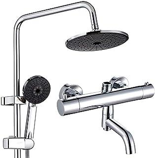 BYCDD シャワーシステムは、圧力バランスシャワースイート壁が搭載メタルシャワー抗火傷レインシャワー,A