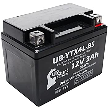 YTX4L-BS Battery Replacement  3Ah 12v Sealed  Factory Activated Maintenance Free Battery Compatible with - 1990 Suzuki DR350S 1990 Suzuki DR250S 1993 Suzuki DR350S 1991 Suzuki DR350S