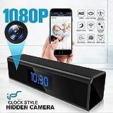 Caméra Espion,1080P Mini Camera Espion WiFi Réveil Caméra Cachée de Surveillance de Vision Nocturne Nanny Caméra Détection de Mouvement Surveillance en Temps réel à la Maison ou au Bureau